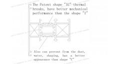 rotura de puente térmico, la patente de rotura de puente térmico IC, IC rotura de puente térmico, marco de ventana de aluminio, soluciones de marco de ventana de aluminio