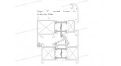 T forma rotura de puente térmico, rotura de puente térmico, marco de la ventana aluminio, Uf 2 . 5 K / m2K