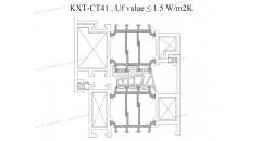 rotura de puente térmico, Uf 1,5 K / m2K, marcos de ventanas de aluminio, Soluciones para el marco de la ventana de aluminio