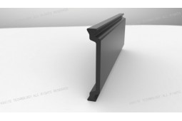 puntal de aislamiento térmico, Forma C 34 mm puntal aislamiento térmico, aislamiento térmico de perfiles de aluminio, ventanas de aluminio de aislamiento térmico