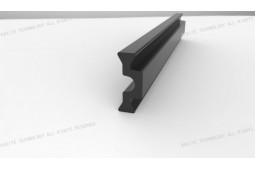 Perfil de rotura de puente térmico, en forma de C 14 . 8 mm Ancho de perfil rotura de puente térmico, perfil rotura de puente térmico para el sistema de rotura térmica, sistema de frenado térmica