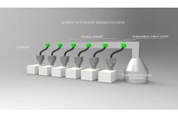 Sistema automático de alimentación, sistema de alimentación automático para los gránulos, sistema de alimentación automático para extrusoras, alimentación automática, sistema de alimentación
