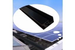 Riel de montaje de panel solar, riel de montaje de panel, soportes de montaje de panel, riel de aluminio
